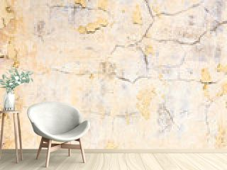 yellow plaster wall texture background