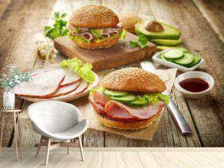 breakfast sandwich with smoked meat