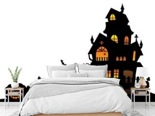 Haunted house silhouette theme image 4