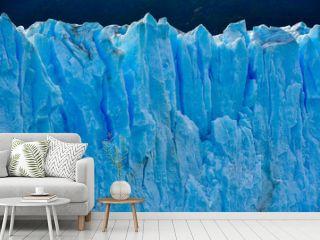 Close-up view of the Perito Moreno glacier in Patagonia, Argentina.