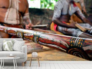Yirrganydji Aboriginal men play Aboriginal music