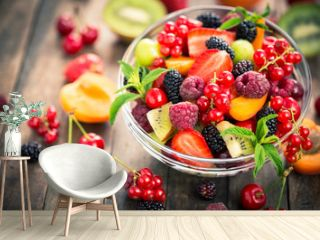 Fresh fruit salad in the bowl