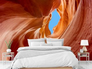 sandstone carved by erosion, lower antelope canyon
