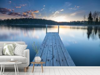 Wooden pier on the lake