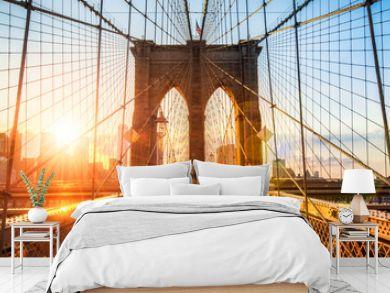 New York Brooklyn Bridge Panorama