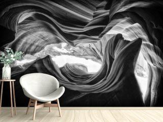 A beautiful pattern inside a canyon