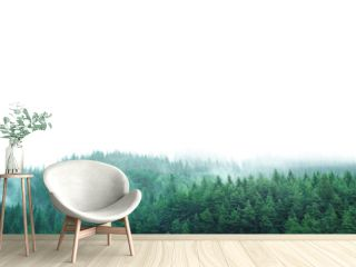 green forest with clear blank space