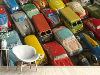 Collection of antique toy cars