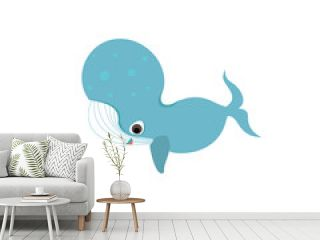 vector whale icon or illustration