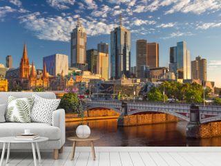 Melbourne. Cityscape image of Melbourne, Australia during summer sunrise.