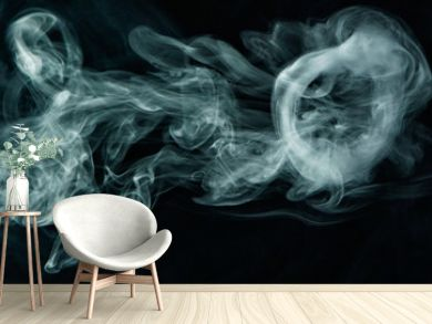 Vape trick smoke ring on dark background