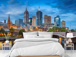 City of Melbourne. Cityscape image of Melbourne, Australia during twilight blue hour.