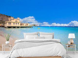 Mondello beach in Palermo, Sicily