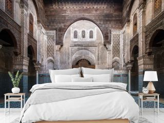 Interior of an ancient school in Morocco