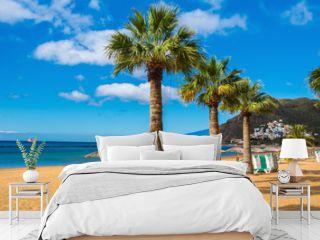 Amazing view of beach las Teresitas, Tenerife, Canary Islands
