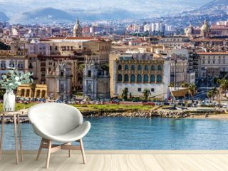 Palermo, Sicily, Italy. Seafront view
