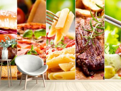 collage of food products