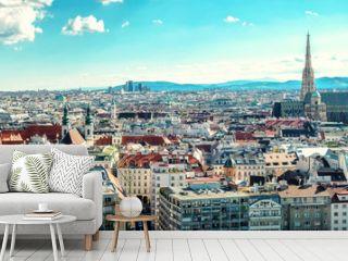 Panoramic view of Vienna city. Austria