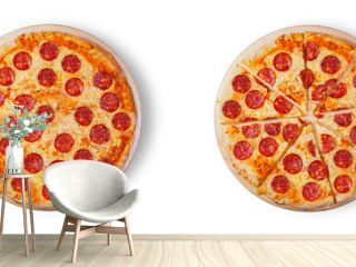 Pizza pepperoni. This picture is perfect for you to design your restaurant menus. Visit my page. You will be able to find an image for every pizza sold in your cafe or restaurant.
