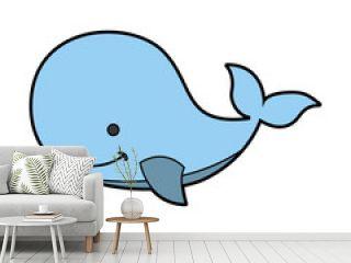 cute whale tender icon vector illustration design