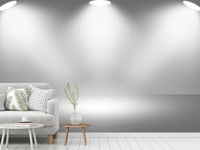 White light spotlight stage background.