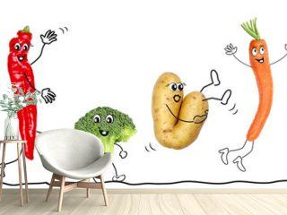 Bio Gemüse, Comic