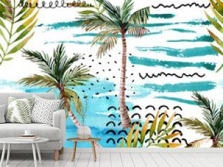 Abstract summer natural seamless pattern.