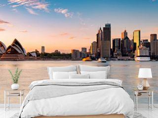 Sydney skyline during sunrise, New South Wales Australia