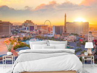 Aerial view of Las Vegas strip in Nevada