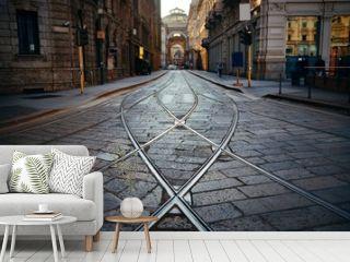 Tram track in Milan Street