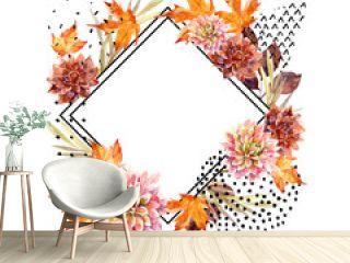Autumn watercolor floral arrangement