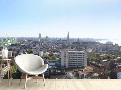 Antwerpen Belgien Skyline Panorama