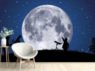 lune - clair de lune - astronomie - espace, planète - univers - satellite