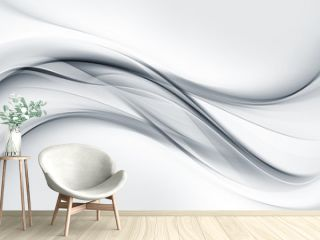 Bright gray and white waves background.