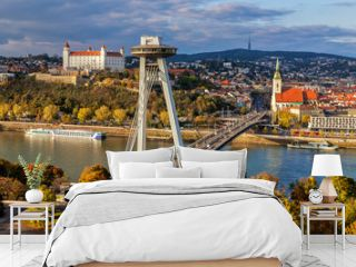 Top view of Bratislava, capital of Slovakia