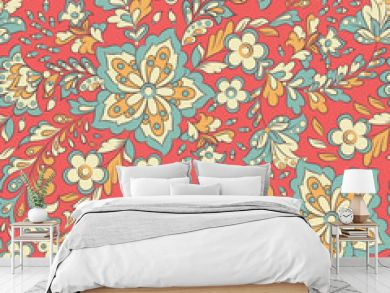 Floral seamless pattern. Vector background