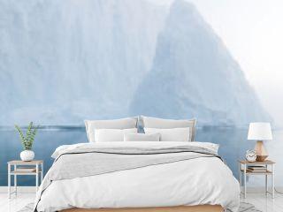 Glaciers on arctic ocean in Greenland