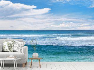 Sea waves and blue sky.