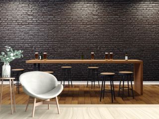 Creative black bar interior