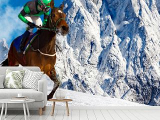 Gallop in the Snowy Alps