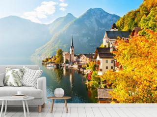 Hallstatt village in Austrian Alps