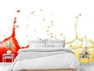 fruit juice splashes isolated on white background