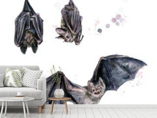 Bats. Watercolor Illustration.