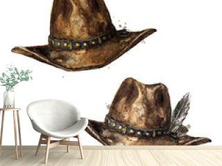 Cowboy Hat. Watercolor Illustration.