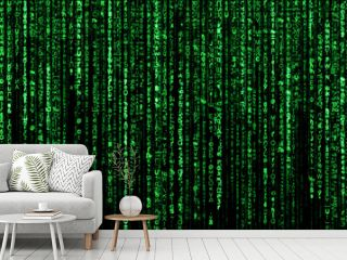Abstract background, digital data , green matrix