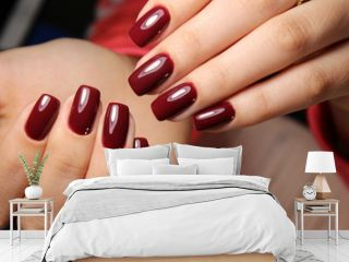fashion manicure with a design