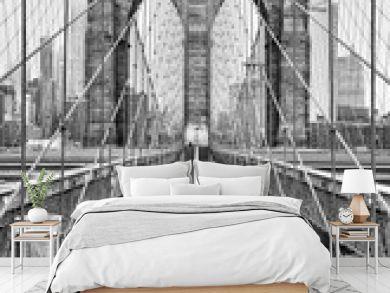 Brooklyn bridge of New York City