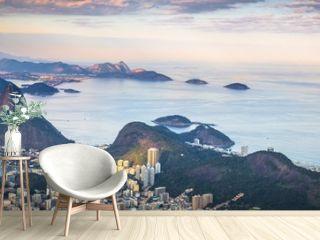 Rio de Janeiro - June 20, 2017: Panorama of Rio de Janeiro seen from Corcovado mountain in Rio de Janeiro, Brazil
