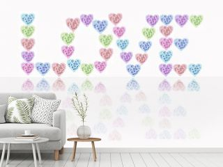 Love Hearts And Flowers