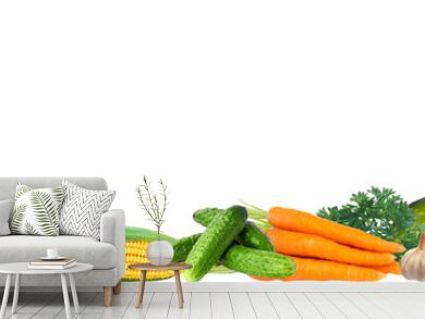 banner with a variety of vegetables